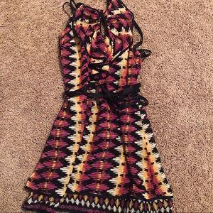 NWT BCBG Ruffle Halter Dress